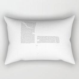 Erosion & Typography 4 Rectangular Pillow