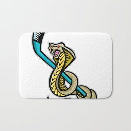 King Cobra Ice Hockey Sports Mascot Bath Mat