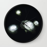 led zeppelin Wall Clocks featuring LED Roses by Luke J
