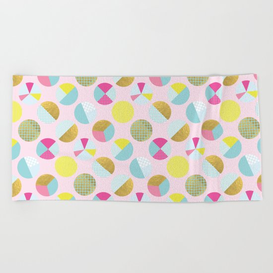 Goldielocks Gold Spots  Beach Towel
