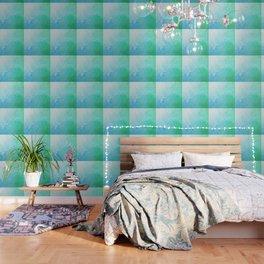 Rainforest - Blue & Green Glitch Wallpaper