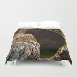 Gobble Rock Cave Duvet Cover