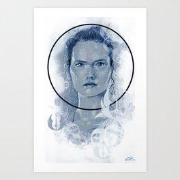 Blue Rey Art Print