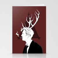 true detective Stationery Cards featuring True Detective by Burcu Aycan