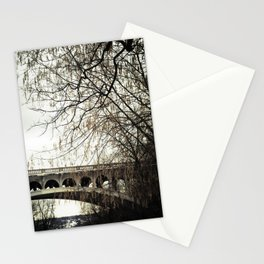 Vintage Retro Rustic Bridge with Framing Tree Desaturated Colored Wall Art Lustre Print OR Framed Pr Stationery Cards