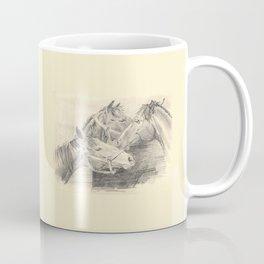 Three horses - pencil sketch Coffee Mug