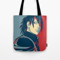 sasuke Tote Bags featuring Sasuke - Truth by KingSora
