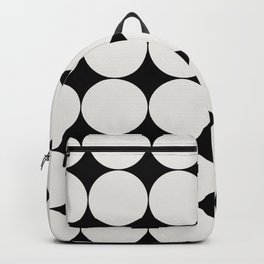 Circular Minimalism - Black & White Backpack