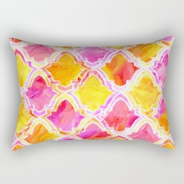 Painted Marrakesh Inspired Moroccan In Sunset Colors Rectangular Pillow