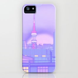 Blue Nostalgia iPhone Case