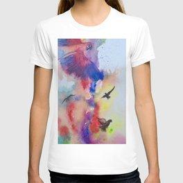 Parrots in the Rainblow T-shirt