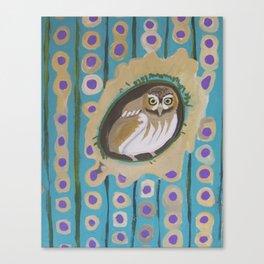 3 Green Jays Canvas Print