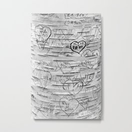 Love Memories in Lover's Lane, Green Gables, black white Metal Print