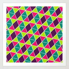 Berry Geo Triangles Art Print