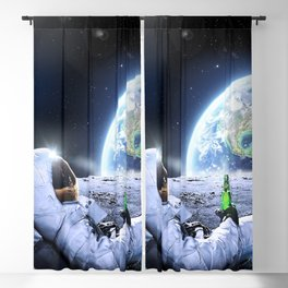 Astronaut on the Moon with beer Blackout Curtain