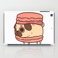 macaron iPad Cases featuring Puglie Macaron by Puglie Pug