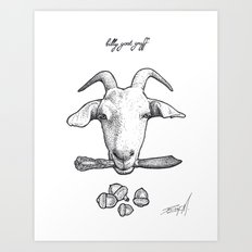 Billy Goat Gruff Art Print