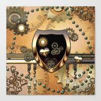 steampunk Canvas Prints featuring Steampunk by nicky2342