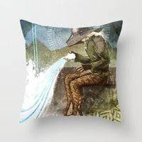 "dragon age inquisition Throw Pillows featuring Dragon Age Inquisition - Cole - Charity by Barbara ""Yuhime"" Wyrowińska"