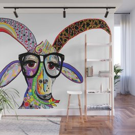 Hipster Goat Wall Mural