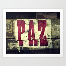 Paz Art Print