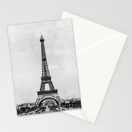 Eiffel tower in B&W with painterly effect Stationery Cards