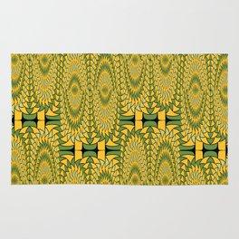 Geometric sunflowers Rug