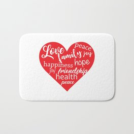 Love Family Happiness Bath Mat