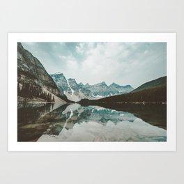 Moraine Lake Mountain Reflection Summer Art Print