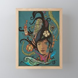 Wahine #4 Framed Mini Art Print