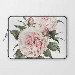 Pink Garden Roses Watercolor Laptop Sleeve