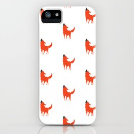 Red and White Dog pattern print iPhone Case