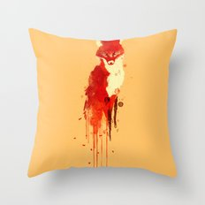 The fox, the forest spirit Throw Pillow