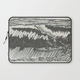 Barrelled in Black & White Laptop Sleeve