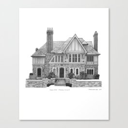 Tudor Style, Rosedale - Architectural Styles of Toronto Houses Canvas Print