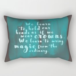 Hold Our Heads Rectangular Pillow