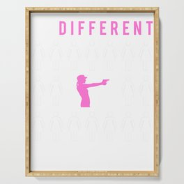 gun be different t-shirt for merry christmas Serving Tray