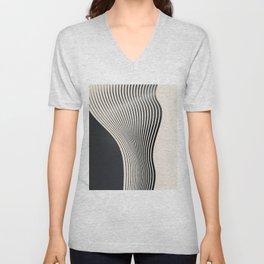 Abstract 18 Unisex V-Neck