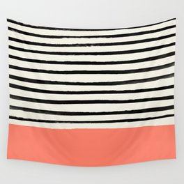 Coral x Stripes Wall Tapestry