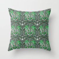 slytherin Throw Pillows featuring Slytherin by Cryptovolans