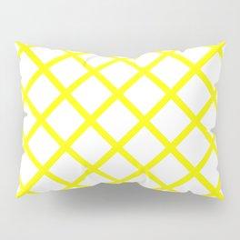 Criss-Cross (Yellow & White Pattern) Pillow Sham
