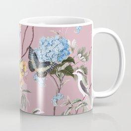 BIRDS, BLOSSOMS & BUTTERFLIES BLUSH Coffee Mug