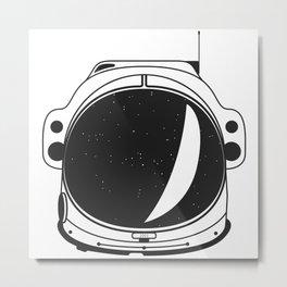 Cosmonaut helmet Metal Print