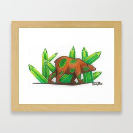 Emerald Bear Framed Art Print