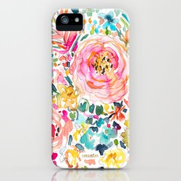 DON'T STRESS Colorful Floral iPhone Case