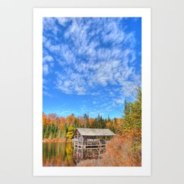 A Cabin in the Hills Art Print