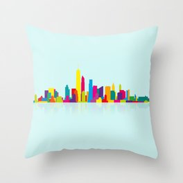 New WTC Skyline Throw Pillow
