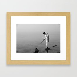Come Here Fish Framed Art Print