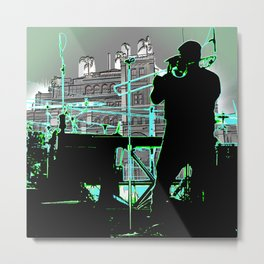 Big Sam (Trombone Man) Metal Print