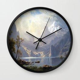 Albert Bierstadt In the Sierras Lake Tahoe Wall Clock